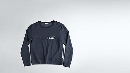 SADI V1.Y1.02 Logo Sweatshirt navy / melange Hinten Alpha Tauri