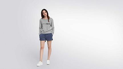 SADI V1.Y1.02 Logo Sweatshirt grey / melange Haupt Vorne Alpha Tauri