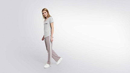 JONU V1.Y1.02 Logo T-shirt grey / melange Front Main Alpha Tauri