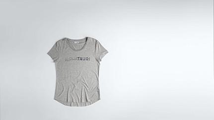 JONU V1.Y1.02 Logo T-shirt grey / melange Back Alpha Tauri