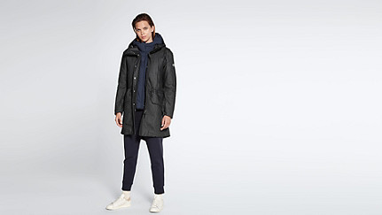 OORY V1.Y1.02 Two-piece Taurex® Denim Parka black / blue Front Main Alpha Tauri