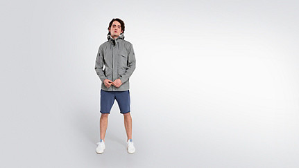 OXOM V1.Y2.01 Reflektierende Taurex® Jacke grey Haupt Vorne Alpha Tauri