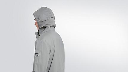 OXOM V1.Y2.01 Reflektierende Taurex® Jacke grey Vorne Alpha Tauri