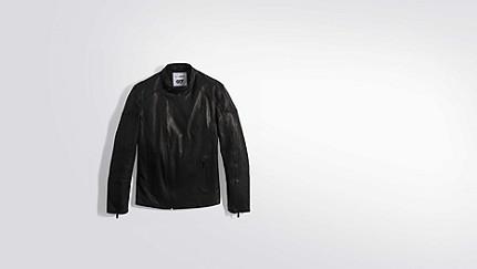 LOKI V1.Y2.01 Biker-Jacke aus Leder black Hinten Alpha Tauri