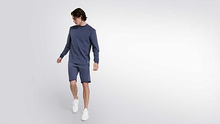 SAUL V1.Y2.01 Taurex® sweater blue Front Main Alpha Tauri