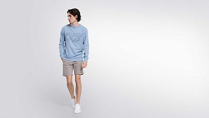 SEGA V1.Y2.01 Taurex® Logo Sweatshirt light blue Haupt Vorne Alpha Tauri