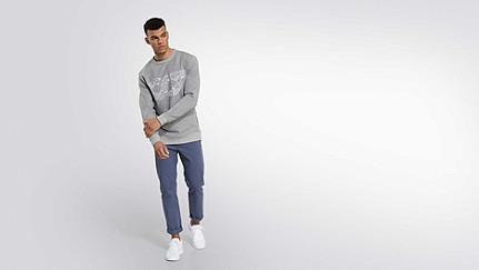 SEGA V1.Y2.01 Taurex® Logo Sweatshirt grey / melange Front Main Alpha Tauri