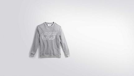 SEGA V1.Y2.01 Taurex® Logo Sweatshirt grey / melange Back Alpha Tauri