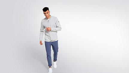 SHAO V1.Y2.01 College Jacket grey / melange Front Main Alpha Tauri