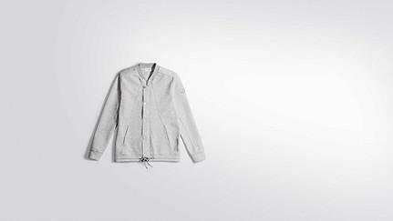 SHAO V1.Y2.01 College Jacke grey / melange Hinten Alpha Tauri