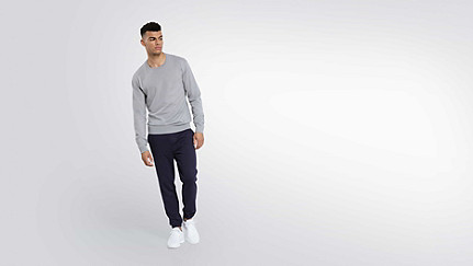 FURA V1.Y2.01 Water-repellent Merino sweater grey / melange Front Main Alpha Tauri