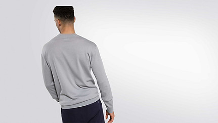 FURA V1.Y2.01 Water-repellent Merino sweater grey / melange Front Alpha Tauri