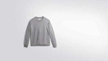 FURA V1.Y2.01 Water-repellent Merino sweater grey / melange Back Alpha Tauri