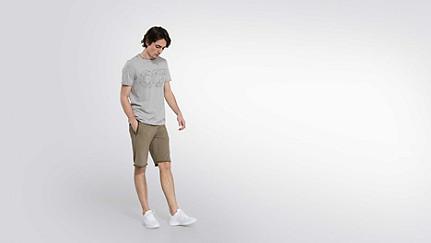 JEGA V1.Y2.01 Taurex® Print T-Shirt grey / melange Haupt Vorne Alpha Tauri