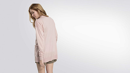 JOLY V1.Y2.01 Water Repellent Cardigan rose Front Alpha Tauri