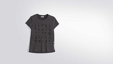 JALP V1.Y2.01 Taurex® Print T-Shirt  dark grey Back Alpha Tauri