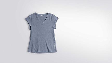 JONI V1.Y2.01 T-Shirt mit V-Ausschnitt blue Hinten Alpha Tauri