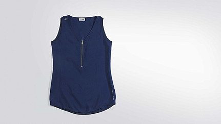 WIRN V1.Y2.01 Sleeveless Top blue Back Alpha Tauri