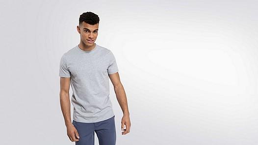 BARU Round-neck Taurex® T-shirt grey / melange Model shot Alpha Tauri