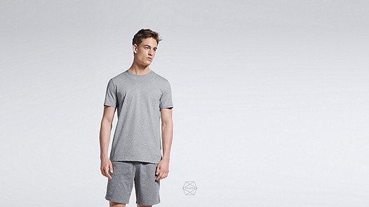 BARU Round-neck Taurex® T-shirt grey / melange Model shot Alpha Tauri