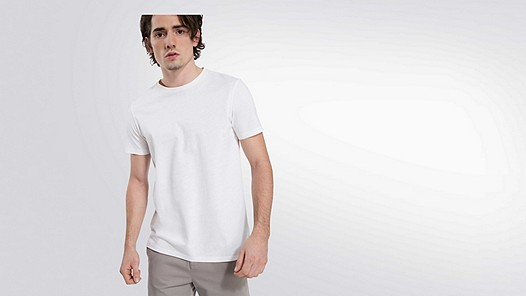 BARU Taurex® T-Shirt mit Rundausschnitt white Model Foto Alpha Tauri