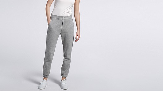 PRIS V1.Y0.02 Luxury Sweatpants grey Model shot Alpha Tauri