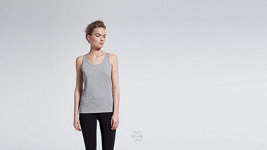 BESS Taurex® Tank-Top grey / melange Model Foto Alpha Tauri
