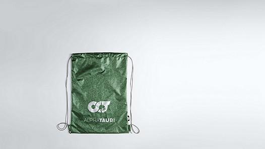 ALOG V1.Y1.02 Gymbag mit Logo green Hinten Alpha Tauri