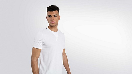 JASO V1.Y2.01 Taurex® T-Shirt with Tape Detail offwhite Model shot Alpha Tauri