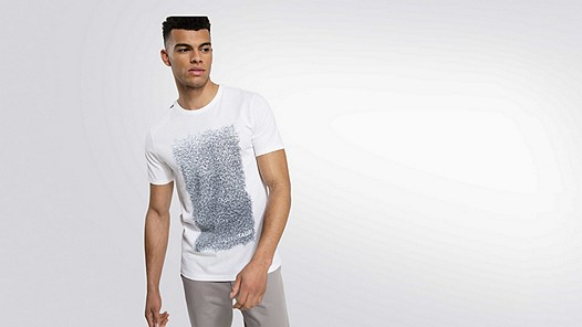 JONS V1.Y2.01 Graphic Taurex® T-Shirt  white Model shot Alpha Tauri