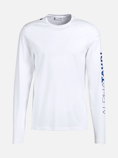 Taurex® Long-Sleeved T-Shirt with Logo Print