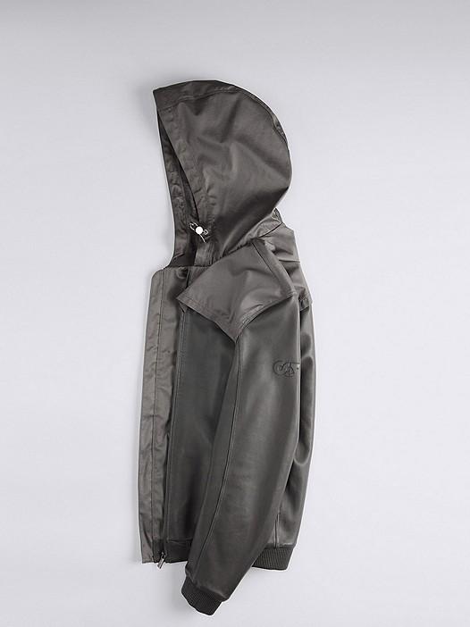 OLIN V1.Y1.01 Leather Jacket grey Back Alpha Tauri