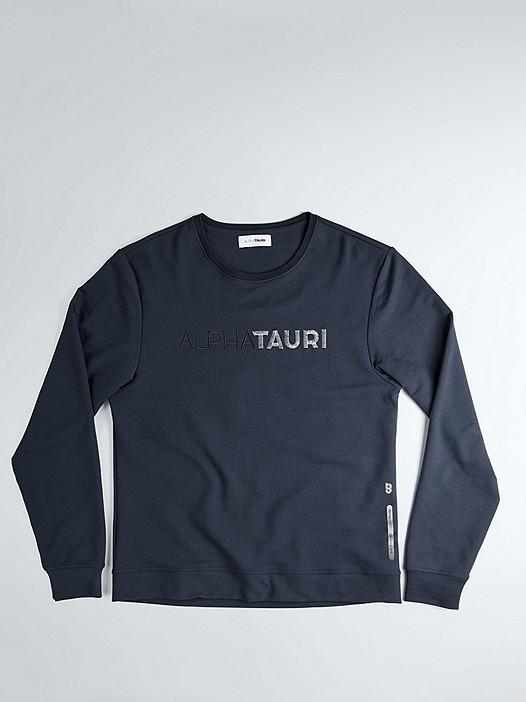 SALT V1.Y1.02 Logo Sweatshirt navy / melange Hinten Alpha Tauri