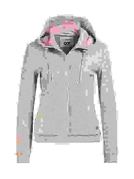 LYNN V2.Y1.02 Leather Jacket with Hood offwhite Back Alpha Tauri