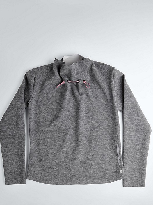 SYRI V1.Y1.02 Impact Collar Sweater grey / melange Back Alpha Tauri