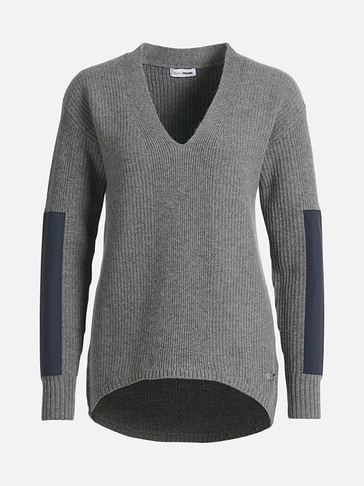 FALA V1.Y1.02 Pullover aus Kaschmir-Mix grey / melange Hinten Alpha Tauri