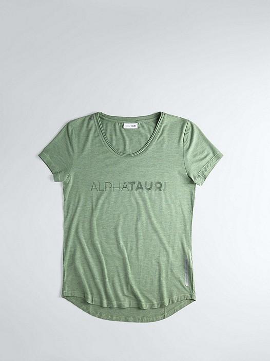 JONU V1.Y1.02 Logo T-Shirt green Hinten Alpha Tauri