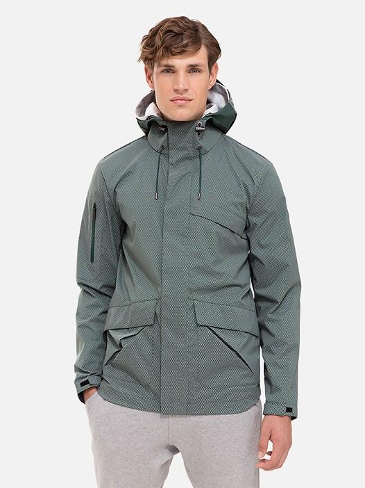 OXOM V1.Y2.01 Reflective Taurex® Jacket green Model shot Alpha Tauri