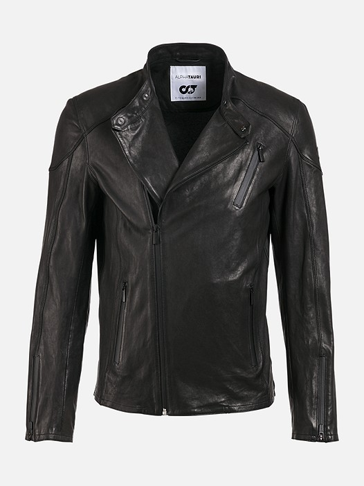 LOKI V1.Y2.01 Leather Biker Jacket black Back Alpha Tauri