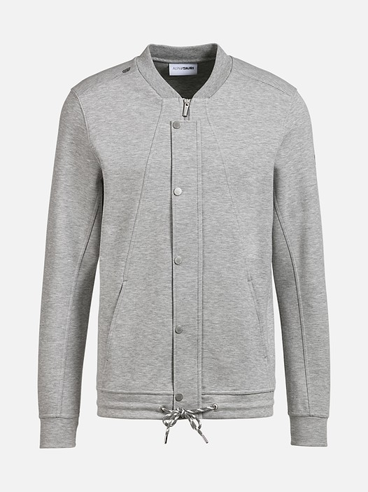 SHAO V1.Y2.01 Zip-Up College Sweatshirt grey / melange Back Alpha Tauri