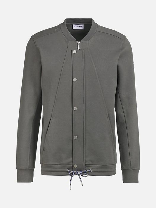 SHAO V1.Y2.01 Zip-Up College Sweatshirt dark grey / anthracite Back Alpha Tauri