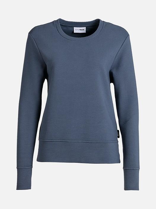 SONA V1.Y2.01 Gerippter Taurex® Sweater blue Hinten Alpha Tauri