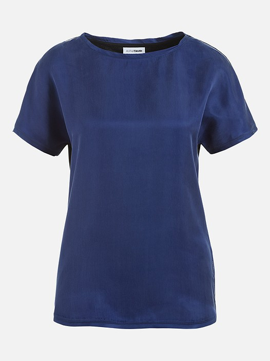 JAYM V1.Y2.01 Material-Mix T-Shirt blue Hinten Alpha Tauri