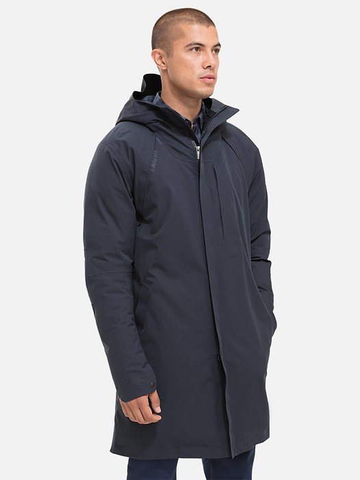 KOOV V1.Y2.02 Technical Taurex® Parka navy Model shot Alpha Tauri