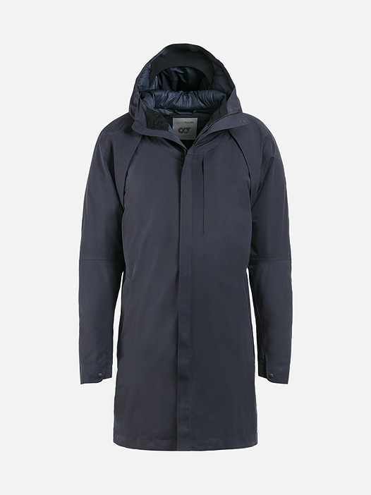 KOOV V1.Y2.02 Technical Taurex® Parka navy Back Alpha Tauri