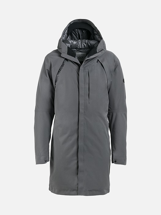 KOOV V1.Y2.02 Technical Taurex® Parka grey Back Alpha Tauri