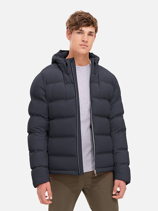 OTOC V1.Y2.02 Quilted Primaloft® Jacket navy Model shot Alpha Tauri
