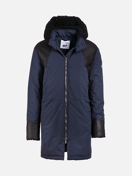 OBAS V1.Y2.02 Premium Taurex® Parka with Lamb-Wool navy Back Alpha Tauri