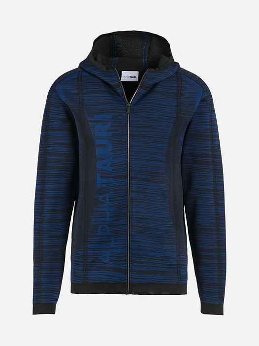 FAAV V1.Y2.02 Technical Knit Zip-Hoodie blue / other Back Alpha Tauri