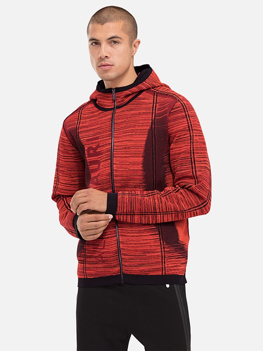 FAAV V1.Y2.02 Technical Knit Zip-Hoodie red / other Model shot Alpha Tauri